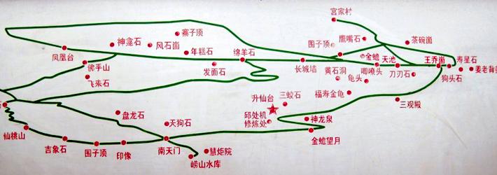毛公山路线图